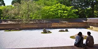 Ryoanji Rock Garden Ryoanji Temple Zen Rock Garden The Road Beyond Kinkakuji