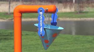 my splash pad single bucket dump water play features youtube