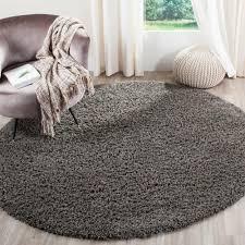 safavieh athens shag dark gray 6 ft 7 in x 6 ft 7 in round