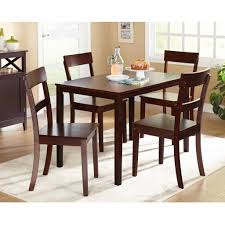 cosco 5 piece card table set black mainstays 5 piece faux marble top dining set walmart inside dining