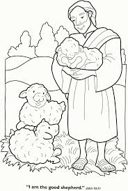coloring pages preschoolers parable lost sheep coloring
