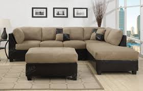 Brown Themed Living Room by Furniture Brown Oversized Sectionals Sofa With Pillows For Living