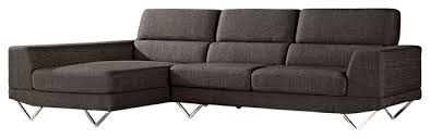 Left Sectional Sofa Charcoal Gray Trago Fabric Sectional Sofa Contemporary