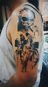 got my metal gear solid yoji shinkawa tattoo yesterday 1st