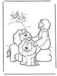 daniel lions den coloring sheet coloring