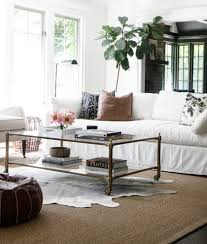 cube coffee table living room scandinavian with rectangular area