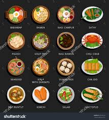 web cuisine big set of food and