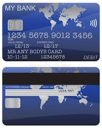 free debit card debit card blue world map stock illustration image 62642266