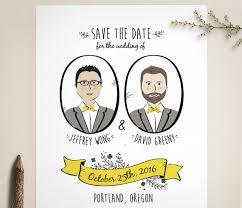 custom save the dates custom portrait save the date folk save the date same