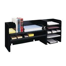 Cheap Desk Organizers Desk Organizer With Adjustable Shelves Black Industries