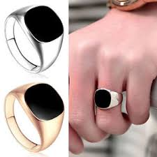 signet wedding ring 18ct gold filled black onyx mens signet wedding band ring