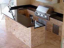 prefabricated kitchen island kitchen outdoor kitchen idea with beige base and