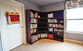 corner bookcase for space optimization home design by john