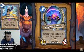 new mage card reveal arcane artificer hearthstone