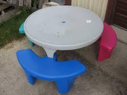 round plastic picnic table cool plastic picnic tables thedigitalhandshake furniture reasons