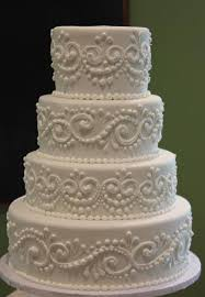 wedding cake decorating ideas simple scroll piping method with impressive results