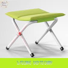 portable folding stool thicker chair fishing maza outdoor
