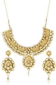 antique necklace set images Dilan jewels pure collection antique golden kundan pearl choker jpg