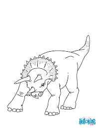 triceratops coloring pages hellokids com