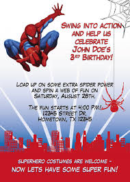Create Birthday Invitation Cards Spiderman Birthday Invitations Kawaiitheo Com