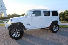 white four door jeep wrangler jeep wrangler loaded custom white hardtop lifted