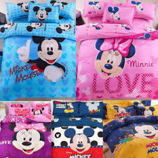 Mickey And Minnie Comforter Cartoon 9 Designs Mickey Mouse Minnie Bedding Set Duvet Cover