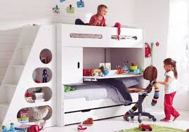 Bed With Stairs And Desk Bedroom Captivating Bunk Beds With Stairs And Desk And Slide