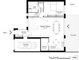 plan de cuisine en u lovely plan de maison plain pied en u 14 maison luxe plain pied