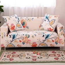 housse extensible pour fauteuil et canapé fleurs impression couvre pour un canapé et fauteuils universel