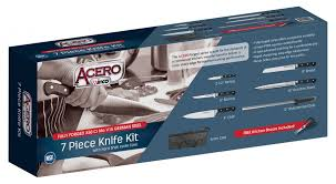 winco 7 piece commercial grade stainless steel knife set w bonus