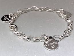 engravable sterling silver charms kids names bracelet charm bracelet engraved sterling silver up