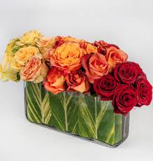 dozen roses ombre roses oblong vase 2 dozen roses