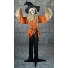 scarecrow halloween mask animated evil scarecrow prop mad about horror