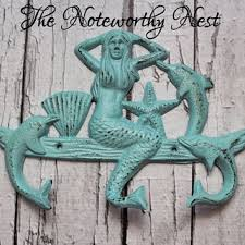 Mermaid Bathroom Decor Shop Nautical Decorative Hooks On Wanelo