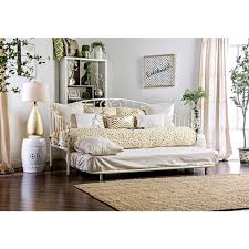 furniture of america traditional link spring wrought iron style