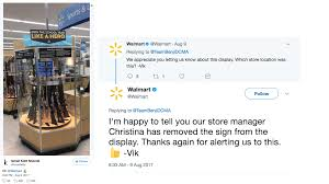 American Flag Walmart Walmart Criticized For Back To Banner Placed Over Gun