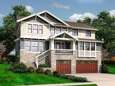 home plans for sloping lots plan 69649am northwest house plan with drive garage