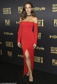 Kate Beckinsale Halloween Costumes Kate Beckinsale Wears Revealing Red Dress Golden Globes Event