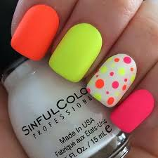 cool neon nail designs for girls prom by http www