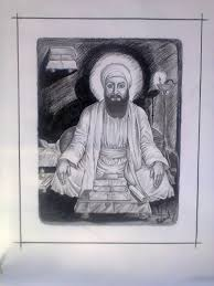 pencil sketch of shree guru angad dev ji god pictures