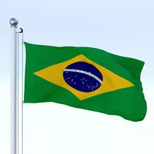 Brazil Flag Image 3d Model Animated Brazil Flag Cgtrader