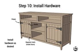 How To Build Wood Tv Stands Rustic Media Center Free Diy Plans Rogue Engineer