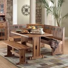 mission breakfast nook set with storage 6inch storage inside