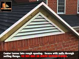 installing a gable vent fan how to install a gable louver youtube