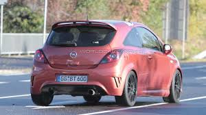 opel pink opel corsa opc nürburgring edition latest spy shots
