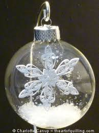 quilling inside a glass ornament theartofquilling
