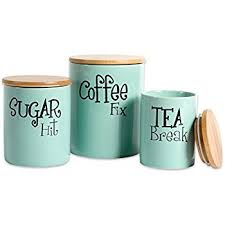 amazon com dii 3 pieces modern ceramic kitchen canister