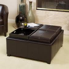 shop best selling home decor mason espresso faux leather ottoman