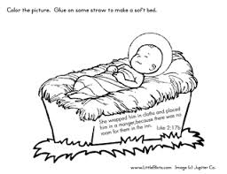 jesus in the manger coloring page bible crafts