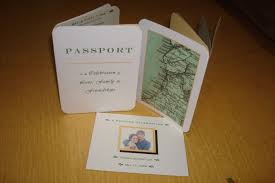 our diy wedding revisited 1 passport invitations jenny lee u0027s